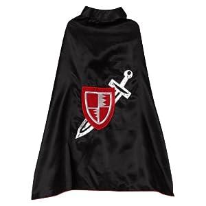 """Black Knight Sword Shield 24"""" Cape"""