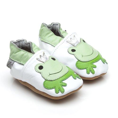Chaussures En Cuir Souple Bébé Prince Grenouille 0-6 Mois AKEwc3b