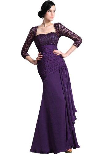 eDressit violet robe de mere de mariee avec manches en dentelles 26124906 T40