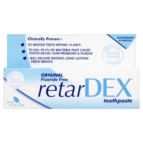 RetarDEX Original Fluoride-Free Toothpaste 75 ml - 2-Pack