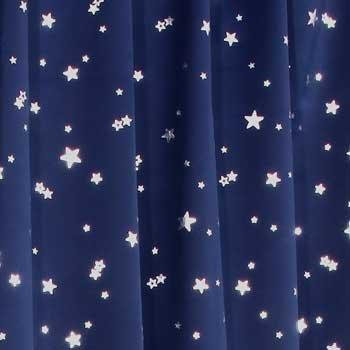 1級遮光カーテン プラネット ブルー (幅100cm×丈200cm 2枚入)