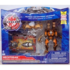 Bakugan - Mechtanium Surge - Mechtogan Extension Pack - DEEZALL ORANGE with Real Die-Cast! - incl. 1 Mechtogan, 1 Bakugan, 2 Bakunano and 2 Ability Cards - MIB