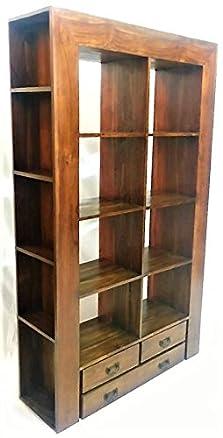 Libreria in Legno teak Massello Parete Attrezzata Stile Minimal Arredamento Etnico Bookcases In Promozione Offerta
