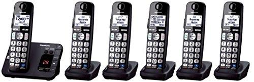Panasonic KX-TGE233B + 3 KX-TGEA20B Handset (6 Handsets Total) DECT 6.0 Plus Cordless Phone System (KX-TGE234B + 2, KX-TGE232B + 4, KX-TGE230B + 5) (Certified Refurbished)