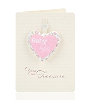Baby Girl Keepsake Greetings Card