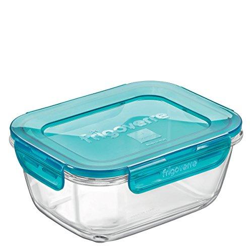 Contenitore per alimenti in vetro TEMPERATO conservare frigorifero freezer Bormioli Frigoverre Evolution 18x14cm