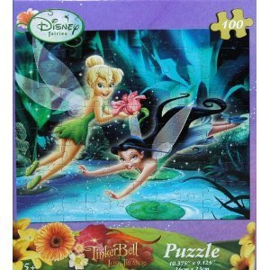 Disney Fairies Tinkerbell 100-Piece Jigsaw Puzzle (Fairies by the Lake) - 1