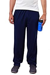 Colors & Blends -Navy Blue- Cotton blended Track Pants with Zipper Pockets- Size S