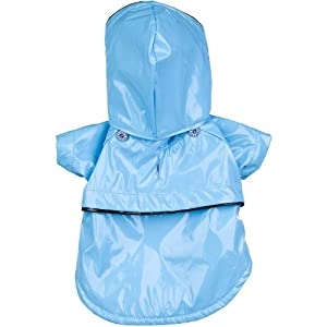 Pet Life PVC Fashion Raincoat in Light Blue - Small