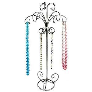 Présentoir porte bijoux pour colliers ou bracelets, Gris