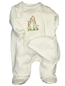 Little Me Layette Footie, Giraffe, Ivory by Little Me