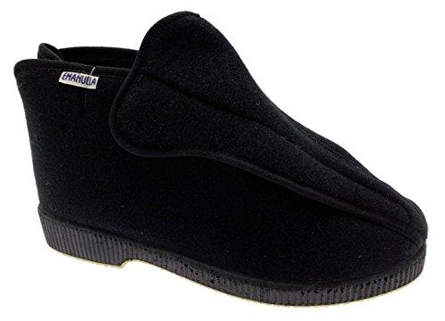 art 572 pantofola uomo panno nero velcro cerniera fisioterapia post operatorio 41 nero