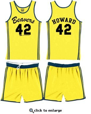 Teen Wolf Beavers 42 Scott Howard Werewolf Basketball Jersey Complete Costume