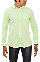 Indipulse Men's Casual Shirt (IF11600615B, Green, L)