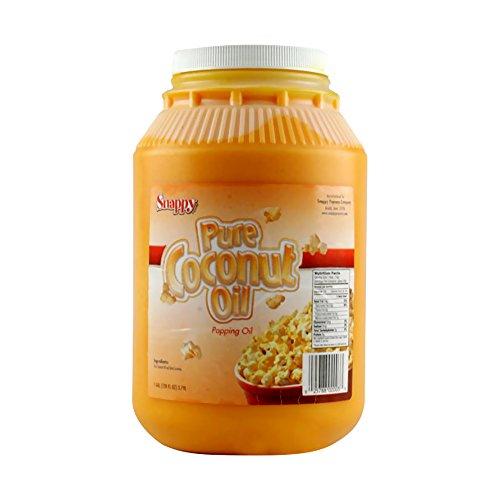 Snappy Popcorn 1 Gallon Beta Carotene Colored Coconut Oil (Popcorn Topping Oil compare prices)