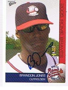 2005 ROME BRAVES BRANDON JONES AUTOGRAPHED CARD ,BRAVES by Bud
