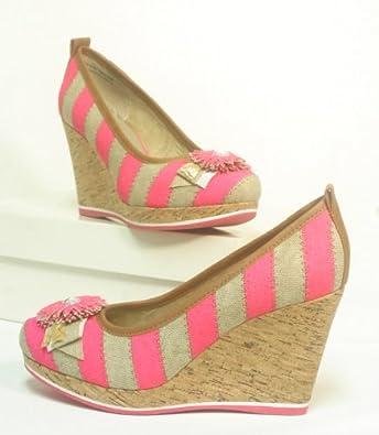 tamaris trend pumps mit keilabsatz sand pink gr 41. Black Bedroom Furniture Sets. Home Design Ideas