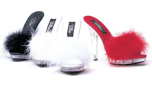 Cheap ELLIE SASHA 5″ Heel Maribou Slipper (B008YV13Z8)