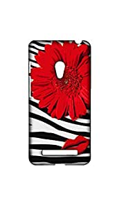 Red Flower With Lips Mobile Case/Cover For Asus Zenfone 5