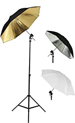 Photography Photo Studio Flash Mount Umbrellas Kit Three Umbrellas By Fancier Fan UB1