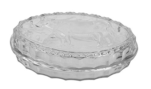 Creative Co-Op Glass Oval Butter Dish with Embossed Cow, 6 by 4-Inch, Clear (Cow Measuring Spoons compare prices)
