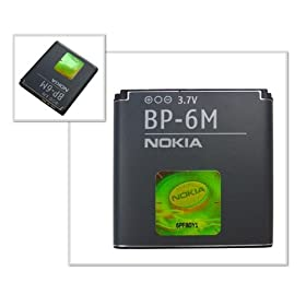 Accumulatore BP-6M originale Nokia N93 N73 Musik Edition N73 6288 6280 6234 6233 6151 ecc.