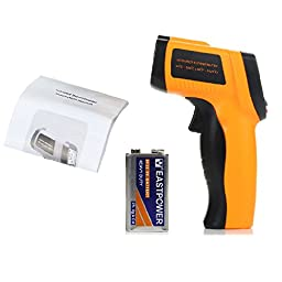 Masione Non-Contact Digital Laser Infrared Gun Thermometer with 9V Battery