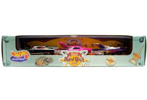 '59 ELDORADO / '63 COUPE DE VILLE / '59 CONVERTIBLE Limited Edition * Hot Wheels 2000 CARS OF THE HARD ROCK CAFE 1:64 Scale 3-Car Custom Vehicle Box Set
