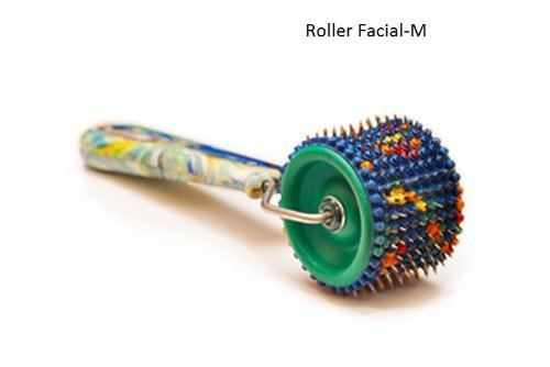 Acupuncture For Body Massage - Acupressure Applicator Lyapko Roller Facial-M (With Rubber Bushings)