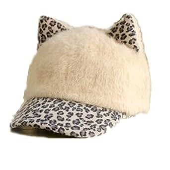 autek cat ear baseball cap leopard