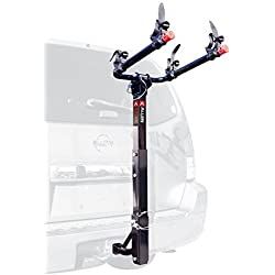 Allen Sports Deluxe 2-Bike Hitch Mount Rack with 1-2 Inch Receiver, Silver/Black by Allen Sports