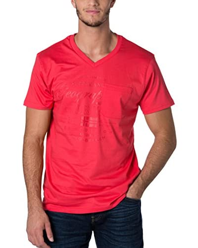 Geographical Norway Camiseta Manga Corta Snht Rojo