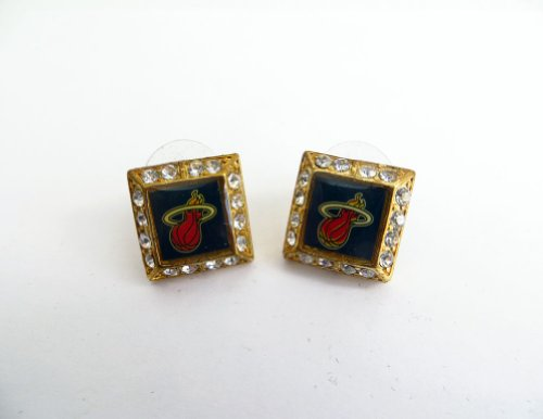 Class A Collection Gold - Plated Miami Heat Nba Earrings