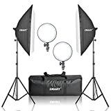 Emart Professional Soft Box including 252 Ultra High Powered Super Bright LED ( Color Temp 5500K), Adjustable brightness) and Light Stand for Photography