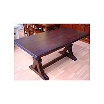 Rectangular Extending Table Solid Walnut Arte povera