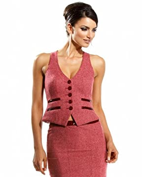 bebe.com : Croco Tweed Seamed Vest :  sexy apparel bebe vest