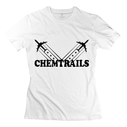 White Casual American Chemtrails Shirts For Girlfriends Size Xl