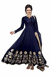 Lakshmi Fashion Creation Women's Faux Georgette Dress Material ( Blue )