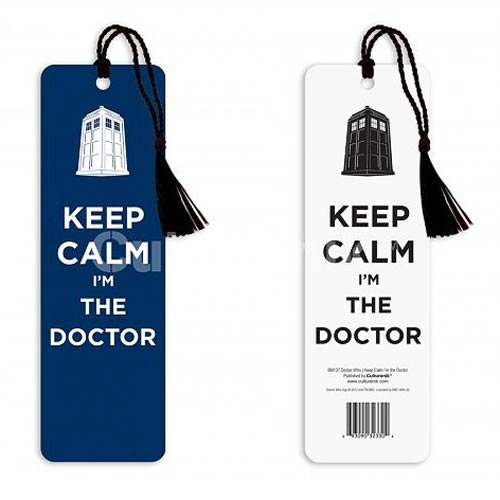 Doctor Who Keep Calm I'm the Doctor Tasseled Bookmark by Culturenik