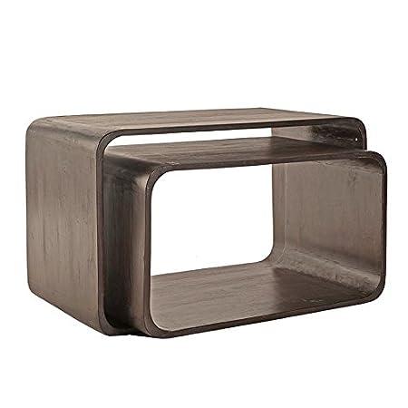 """'(SIT-Möbel 1595Storage Set """"Wiam stone scuro, 80x 70x 40x 40x 48x 39cm, Shes Hame solida pietra"""