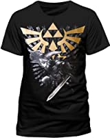 T-Shirt 'The Legend of Zelda' - Zelda With Link - noir - Taille L