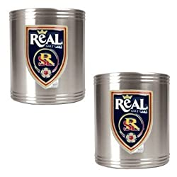 Real Salt Lake Soccer 2pc Stainless Steel Can Holder Set - Primary Team Logo MAJOR-LEAGUE-SOCCER Soccer