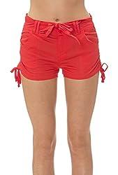 Classic Designs Juniors Stretch Poplin Belted Cargo Shorts