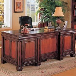 Buy Low Price Comfortable Chomedey Traditional Double Pedestal Executive Computer Desk by Coaster (B0051PDZXS)