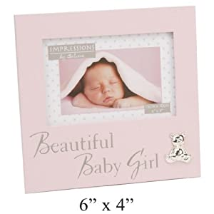 Bebé marco de fotos Born el regalo de bautizo diseño de muñeco con auriculares