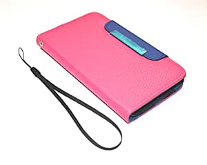 """RKA Apple iPhone 6 4.7"""" New Leather Flip Wallet case Cover Pouch Table Talk Pink"""