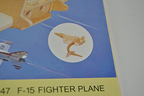 2 x Wooden Model Construction Planes F-15 & F-16 Fighter Plane Build Make your own