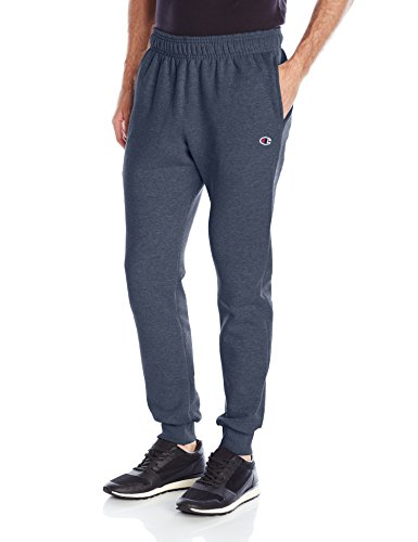 Champion Men's Powerblend Retro Fleece Jogger Pant, Navy Heather, Large (Champion Navy Pants compare prices)