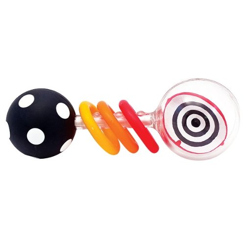 Sassy Spin Shine Rattle Developmental Toy