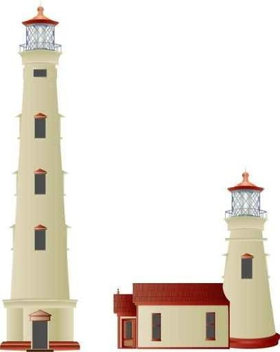Urban Wall Decals Lighthouse A - 18 Inches X 14 Inches - Peel And Stick Removable Graphic front-670135